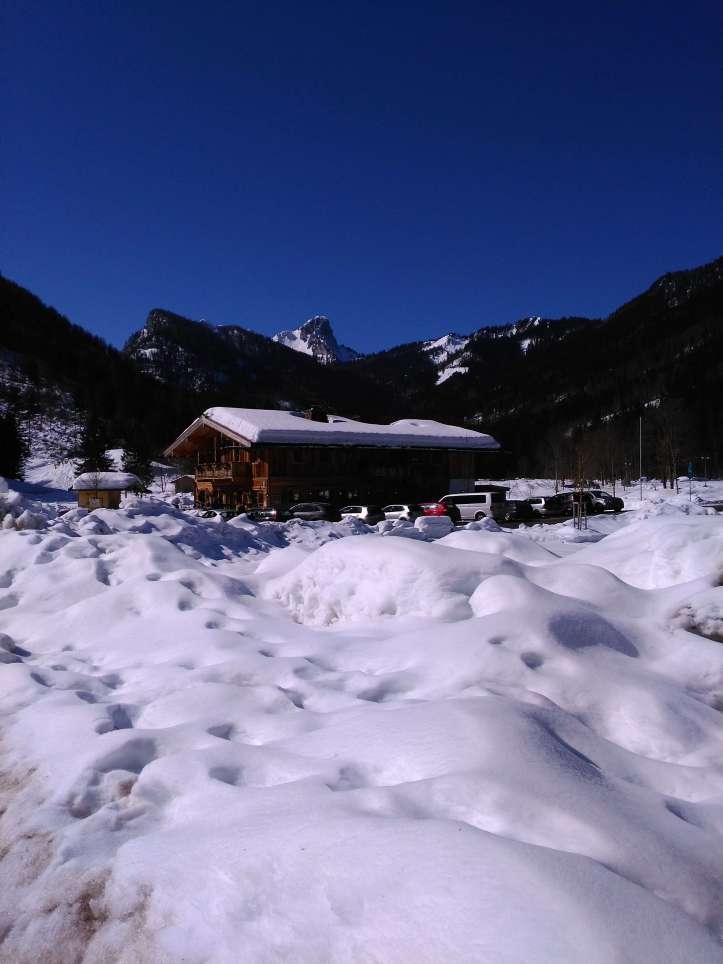 Zirmbergalm Ruhpolding im Schnee